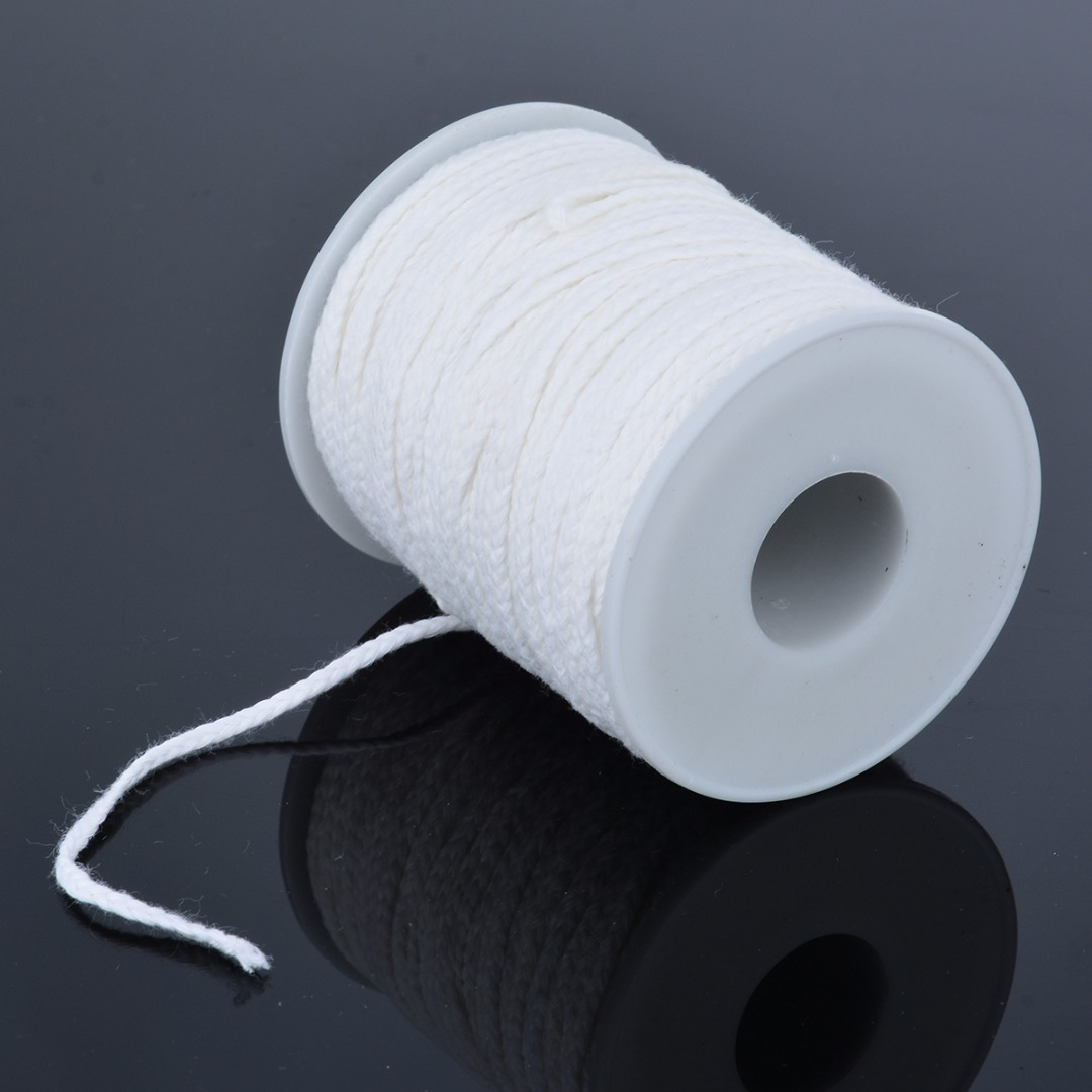 61m*2.5mm Cotton Wick Square Braid Candle Wicks Core Candle Making Supplies Practical DIY Crafts Accessories