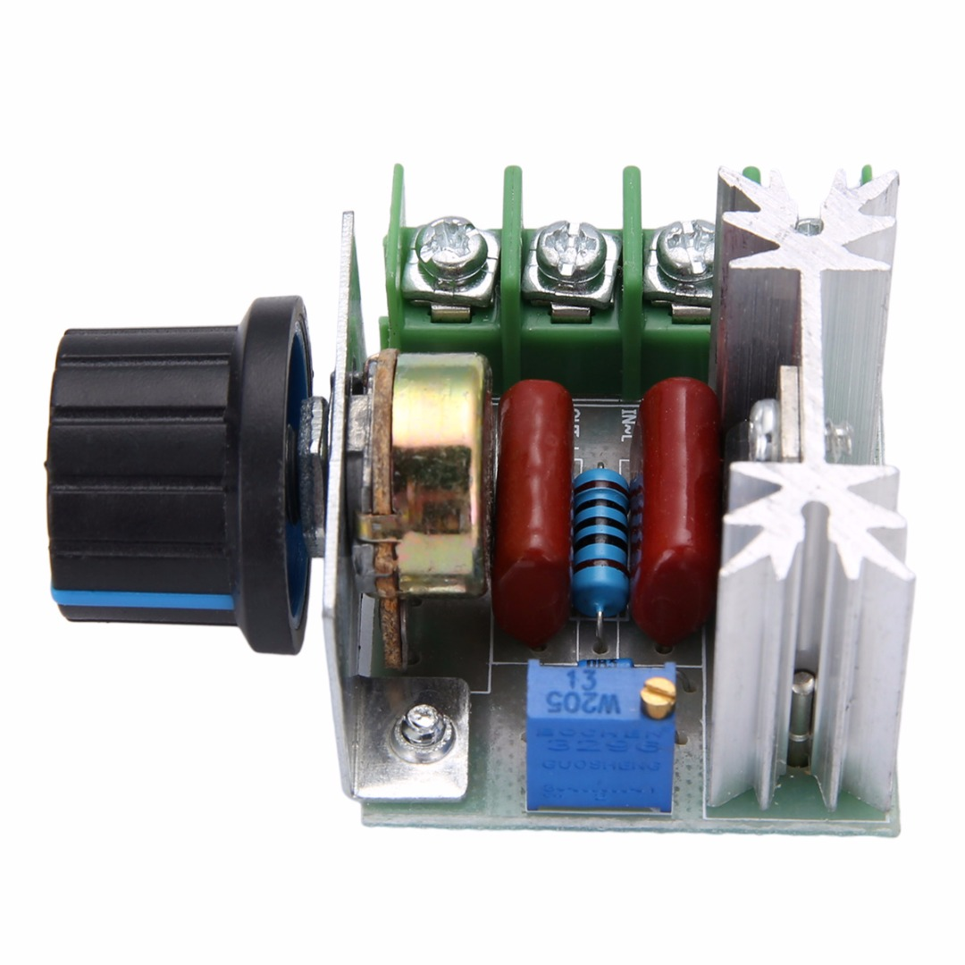 High Power Electronic Voltage Regulator 50-220V 2000W AC Motor Dimmers SCR Controller Knob Switch Speed Control Tools