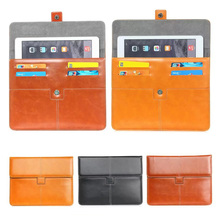 For Samsung Galaxy Note 10.1 N8000 N8010 Leather Case Cover For Universal 9-10 inch Android Tablet Pouch bags S2D48D