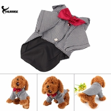 Western Style Male Wedding Dog Suit Bow Tie Dog Clothes Winter Wedding Dog Suit & Bow Tie Puppy for Pet