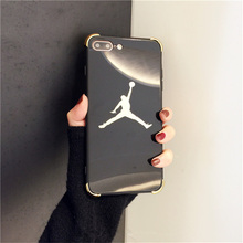 Luxury Jordan Mirror Ultra Thin Michael Jordan TPU Soft Case For iphone 6 Plus 7 6s 7Plus  Super Star Air JD  Back Cover Fundas