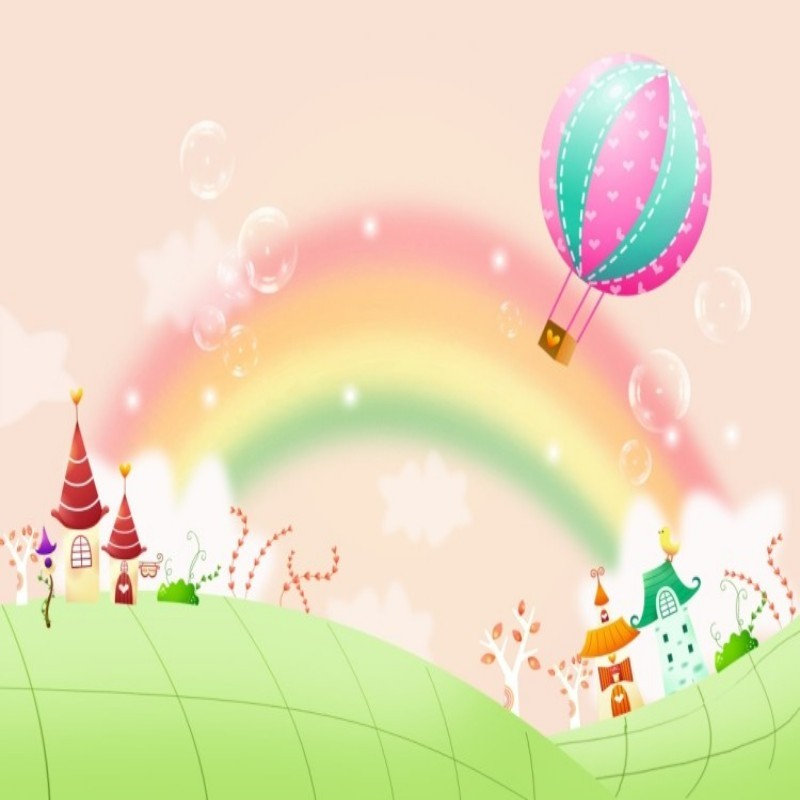 The mural on the wall wallpaper photo mural 3 d cartoon rainbow balloon sitting room sofa large mural wallpaper 3 d wallpaper<br><br>Aliexpress