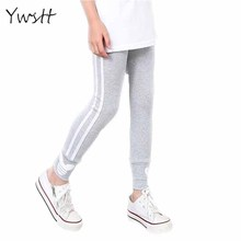 Ywstt Spring Autumn Girls Cotton Pants For Girls Sport Leggings Girls Casual Thin Leggings Sports Pants Girls Clothings(China)