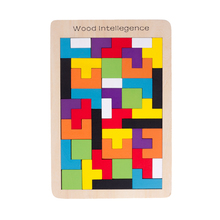 Classic Educational Russian Jigsaw Puzzle Toys High Quality Wooden Tetris Game Brain-Teaser Puzzle Preschool Children Kids Toy(China)