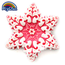 Silicone molds for cake decorating new year jelly dessert mould snow petal soap mold Christmas gift kitchen cake tools S0134XH25(China)