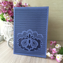 50pcs/lot Pearlized Paper laser cut wedding invitation Thank You Cards Postcard greeting card Happy Birthday Blessing gift card(China)