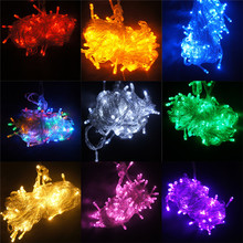 1 PC New String Light 100 LED 10M Christmas/Wedding/Party Decoration Lights AC 110V 220V outdoor Waterproof led lam