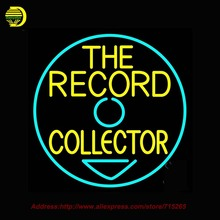 The Record Collector Outdoor Neon Sign Neon Bulb Handcrafted Glass Tube Affiche Light Outdoor Road Neon Lamp Business Gift 24x24
