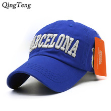 Men Baseball Cap Barcelona Hat For Women Casual Adjustable Gorras Washed Cotton Breathable Casual Sun Dad Hats Neymar Bone