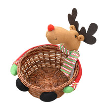 Snack Biscuits Cake Candy Storage Basket Christmas Candy Storage Baskets Decoration Santa Claus kids holiday gift New Year(China)