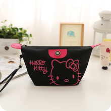 helloKitty cartoon cosmetic bag large capacity Travel waterproof Storage bag(China)