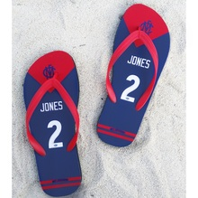 Melbourne Demons AFL Flip flops JONES any name Beach shoes Australia football swimming summer holiday Slipper(China)