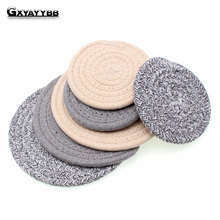 1PC/Set Cotton Dining Table Place Mats Coaster Coffee Drinks Kitchen Accessories Cup Bar Mug Coaster Mats Pads Tea Cup Holder(China)