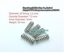 10pcs/lot 3 D printer accessory feeder spring for Ultimaker Makerbot Wade extruder nickel plating 1.2mm 20 mm top quality