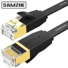 SAMZHE CAT6 Flat Ethernet Cable RJ45 Lan Cable  Networking Ethernet Patch Cord for Computer Router Laptop (China)