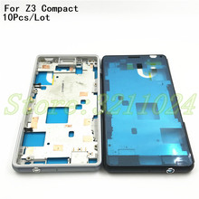10Pcs/Lot Original Sony Xperia Z3 Compact Z3 mini D5803 D5833 Housing cover bezel front faceplate Middle Bezel Middle frame