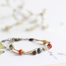 original hand woven simple fashion small and pure and fresh ceramic bracelet jewelry wholesale 01283