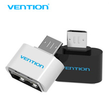VENTION Mini Micro Usb Otg Cable To USB OTG Adapter For Samsung HTC Xiaomi Sony LG Android OTG Card Reader Usb OTG adapter(China)
