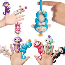Fingerlings Interactive 6 color Glitter Monkey mini Pet shop toys Eyes can turn/ joints are moving Toy Pet Kids Christmas gifts(China)