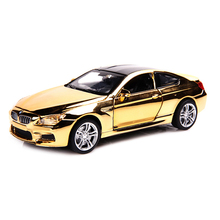 M6 Shining Cover 1:32 Diecast Metal Model Car Vehicles Model Gift Collection Alloy Car with Lights Sounds Toys for Children Boy
