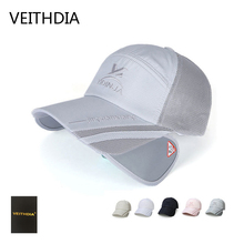 VEITHDIA 2017 new spring and summer stretch with long eaves net hat men fishing baseball cap sunscreen hat