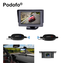 Podofo Wireless Rear View Backup Camera and Monitor Kit for Vehicle / Truck / Van / Caravan / Trailers / Camper Reversing System(China)