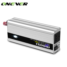 Onever 1500W Car Inverter 12v 220v with USB Charger Converter Adapter Voltage Converter DC 12 to AC 220 Modified Sine Wave(China)