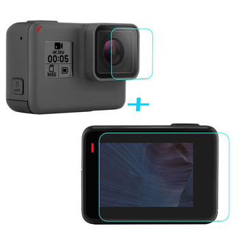 KomoKe Tempered Glass Protector Cover Case For GoPro Go pro Hero5 Hero6 Hero Camera
