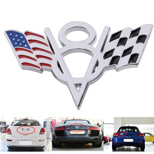 Buy DWCX New Car Emblem Badge Sticker Decal Auto 3D Metal Plated V8 American Checkered Flag VW Audi BMW Honda Hyundai Kia Ford for $3.65 in AliExpress store