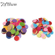 200pcs Round Felt Fabric Pads Accessory Patches Circle Felt Pads Fabric Flower Accessories Handmade Applique Materials 2.5/3cm