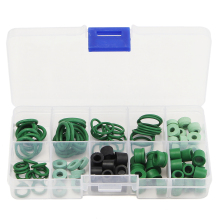 110pcs Refrigeration Hose Gasket's O-Ring Repair Kit 8 Different Sizes SWEET KIT Soft Rubber R134a/R410A O Ring Set