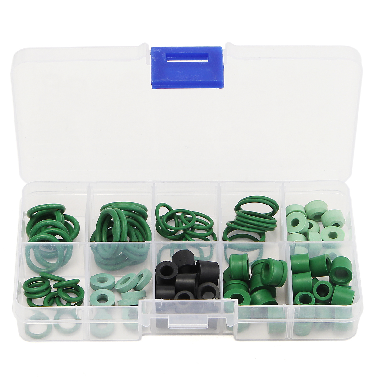 110pcs Refrigeration Hose Gasket's O-Ring Repair Kit 8 Different Sizes SWEET KIT Soft Rubber R134a/R410A O Ring Set(China)
