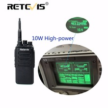 10W Professional Walkie Talkie Retevis RT1 VHF (UHF) 16CH 3000mAh Battery VOX Scan Scrambler 1750Hz Tone 2 Antenna Walkie-Talkie