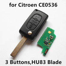 Remote Key 3 Buttons 433MHz with ID46 chip for CITROEN Berlingo C2 C3 C4 C5 C6 Car Control (CE0536 HU83 blade)