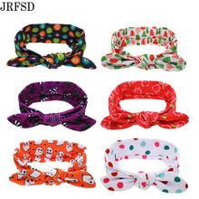 JRFSD 1 pcs Cute Color Headband Knotted Bow Head Wraps Hair Bands Flowers Cotton Headband Kids Hair Accessories FS0