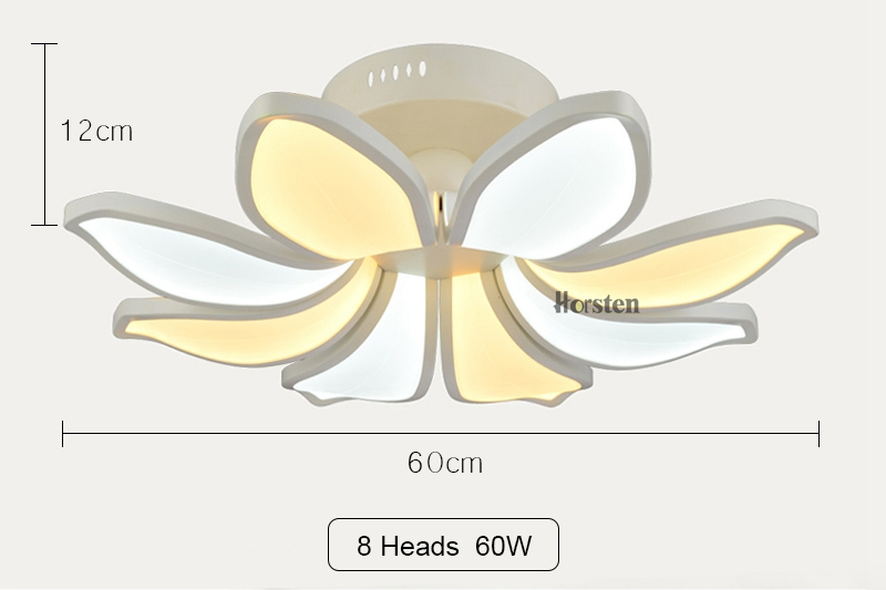 Horsten Simple Flower Acrylic LED Ceiling Light Modern Creative Lotus Ceiling Lamp For Living Room Bedroom With Remote Controller (20)