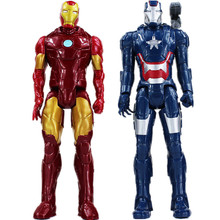 30cm Super Hero Iron Man PVC Action Figures Toy Christmas Collectible Iron Man Model Gifts(China)