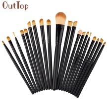 GRACEFUL  20 pcs Makeup Brushes Set tools Make-up Toiletry Kit Wool Make Up lip eyeshadow Brush Set pincel maquiagem OCT21