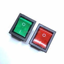 2Pcs/Lot 30mm*25mm Red 4 Pin Light On/off Boat Button Switch 250V 15A AC AMP 125V/20A 30*25mm KCD4-201 Green Power Switch New