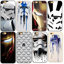 R2D2 STAR WARS Avengers STORMTROOPER BACK PHONE CASE COVER FOR APPLE IPHONE 4 4S 5 5S 5C 6 6S Plus 7 7plus(China)