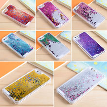 Liquid Glitter meteor sand sequins Colorful Dynamic Transparent Hard Plastic Mobile Phone cases For iphone 4S 5S SE 6 6S 7 Plus
