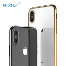 RAXFLY Soft Transparent Case For iPhone X Case Luxury Ultra Thin Phone Case For iPhone X 10 Mobile Phone Cover Accessories(China)