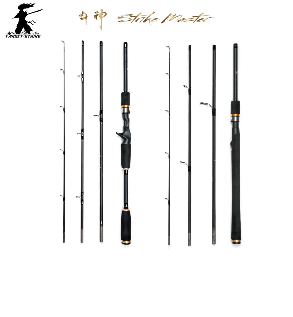 Target Strike 1.80m 2.10m Spinning and Casting 4 Section Travel Rods. Fishing Rods<br><br>Aliexpress
