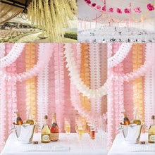 3.6m Garlands Clover Paper Garlands Birthday Curtain Marriage Party Home Decoration Bunting Paper Garland Wedding A25(China)