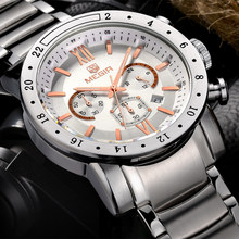 Buy MEGIR Men Chronograph Watches Luxury Brand Men's Waterproof Stainless Steel Clock Date Quartz Watches Sport Watch Large Watch for $23.00 in AliExpress store