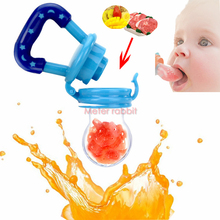 safe Baby Pacifier Soother Holder Fresh Food fruit Milk Nibbler Feeder Baby dummy Nipple Bottles bite infant Feeding Supplies