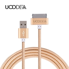 UOODEA 30 Pin usb Cable for iPhone 4 4s iPad 1 2 3 ipod 50cm 1m 2m Charger Cable Nylon Braided Charging Data Sync Cords USB Wire