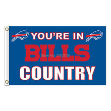 You Are In Bills Country Buffalo Bills Flag Premium Team Colors Super Bowl Champions 3 X 5ft Banner Custom Bills Flags Banner(China)