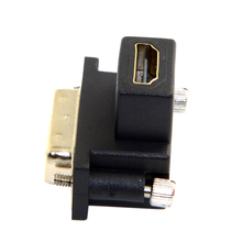 CY 90 Degree Down Angled DVI Male to HDMI Female Adapter for Computer & HDTV & Graphics Card