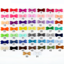 "Promotional Assorted Colors 60pcs/lot 2"" Tiny Felt Bows without clips Kids Girl Hair Accessories Free Shipping YOU PICK COLORS"